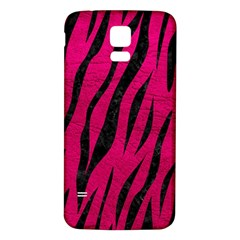 Skin3 Black Marble & Pink Leather Samsung Galaxy S5 Back Case (white) by trendistuff