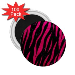 Skin3 Black Marble & Pink Leather (r) 2 25  Magnets (100 Pack)  by trendistuff