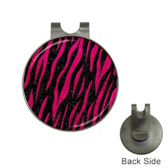 Skin3 Black Marble & Pink Leather (r) Hat Clips With Golf Markers