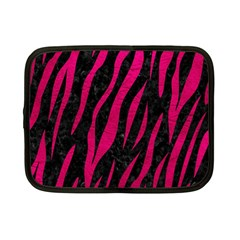Skin3 Black Marble & Pink Leather (r) Netbook Case (small)  by trendistuff