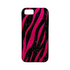 Skin3 Black Marble & Pink Leather (r) Apple Iphone 5 Classic Hardshell Case (pc+silicone) by trendistuff