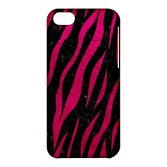 Skin3 Black Marble & Pink Leather (r) Apple Iphone 5c Hardshell Case by trendistuff
