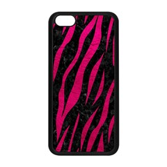 Skin3 Black Marble & Pink Leather (r) Apple Iphone 5c Seamless Case (black) by trendistuff