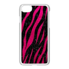 Skin3 Black Marble & Pink Leather (r) Apple Iphone 7 Seamless Case (white) by trendistuff