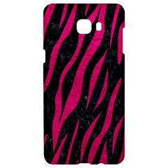 Skin3 Black Marble & Pink Leather (r) Samsung C9 Pro Hardshell Case  by trendistuff