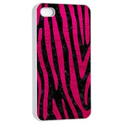 Skin4 Black Marble & Pink Leather Apple Iphone 4/4s Seamless Case (white)