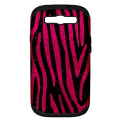 Skin4 Black Marble & Pink Leather Samsung Galaxy S Iii Hardshell Case (pc+silicone) by trendistuff