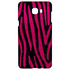 Skin4 Black Marble & Pink Leather Samsung C9 Pro Hardshell Case  by trendistuff