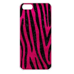 Skin4 Black Marble & Pink Leather (r) Apple Iphone 5 Seamless Case (white) by trendistuff