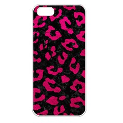 Skin5 Black Marble & Pink Leather Apple Iphone 5 Seamless Case (white) by trendistuff