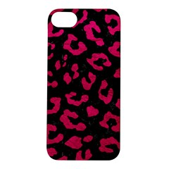 Skin5 Black Marble & Pink Leather Apple Iphone 5s/ Se Hardshell Case by trendistuff