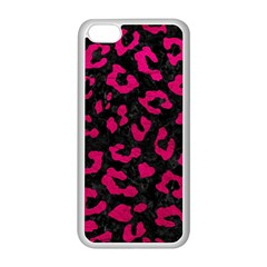 Skin5 Black Marble & Pink Leather Apple Iphone 5c Seamless Case (white) by trendistuff