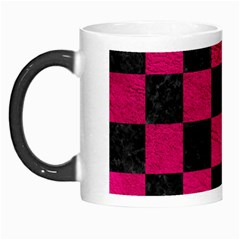 Square1 Black Marble & Pink Leather Morph Mugs by trendistuff