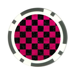 Square1 Black Marble & Pink Leather Poker Chip Card Guard (10 Pack) by trendistuff