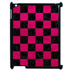 Square1 Black Marble & Pink Leather Apple Ipad 2 Case (black) by trendistuff