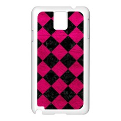 Square2 Black Marble & Pink Leather Samsung Galaxy Note 3 N9005 Case (white) by trendistuff