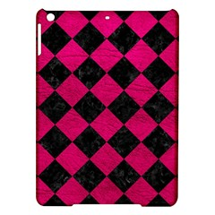 Square2 Black Marble & Pink Leather Ipad Air Hardshell Cases by trendistuff
