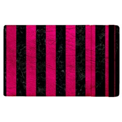 Stripes1 Black Marble & Pink Leather Apple Ipad Pro 9 7   Flip Case by trendistuff