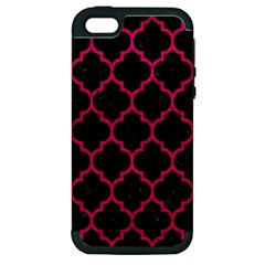 Tile1 Black Marble & Pink Leather (r) Apple Iphone 5 Hardshell Case (pc+silicone) by trendistuff