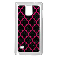 Tile1 Black Marble & Pink Leather (r) Samsung Galaxy Note 4 Case (white) by trendistuff