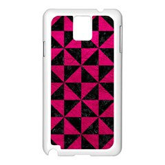 Triangle1 Black Marble & Pink Leather Samsung Galaxy Note 3 N9005 Case (white) by trendistuff