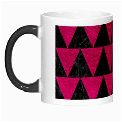 Triangle2 Black Marble & Pink Leather Morph Mugs by trendistuff