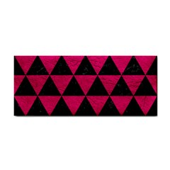 Triangle3 Black Marble & Pink Leather Cosmetic Storage Cases by trendistuff