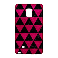 Triangle3 Black Marble & Pink Leather Galaxy Note Edge by trendistuff