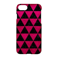 Triangle3 Black Marble & Pink Leather Apple Iphone 7 Hardshell Case by trendistuff