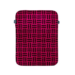 Woven1 Black Marble & Pink Leather Apple Ipad 2/3/4 Protective Soft Cases by trendistuff