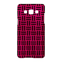 Woven1 Black Marble & Pink Leather Samsung Galaxy A5 Hardshell Case  by trendistuff