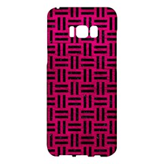 Woven1 Black Marble & Pink Leather Samsung Galaxy S8 Plus Hardshell Case  by trendistuff