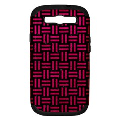 Woven1 Black Marble & Pink Leather (r) Samsung Galaxy S Iii Hardshell Case (pc+silicone) by trendistuff