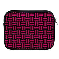 Woven1 Black Marble & Pink Leather (r) Apple Ipad 2/3/4 Zipper Cases by trendistuff