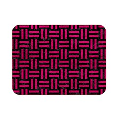 Woven1 Black Marble & Pink Leather (r) Double Sided Flano Blanket (mini)  by trendistuff