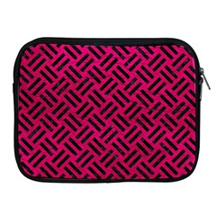 Woven2 Black Marble & Pink Leather Apple Ipad 2/3/4 Zipper Cases by trendistuff