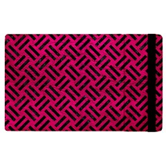 Woven2 Black Marble & Pink Leather Apple Ipad Pro 12 9   Flip Case by trendistuff