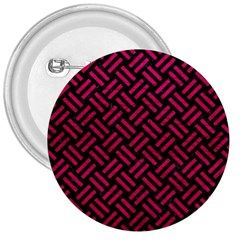 Woven2 Black Marble & Pink Leather (r) 3  Buttons by trendistuff