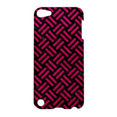 Woven2 Black Marble & Pink Leather (r) Apple Ipod Touch 5 Hardshell Case by trendistuff