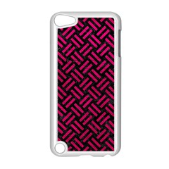 Woven2 Black Marble & Pink Leather (r) Apple Ipod Touch 5 Case (white) by trendistuff