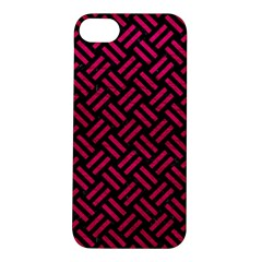 Woven2 Black Marble & Pink Leather (r) Apple Iphone 5s/ Se Hardshell Case by trendistuff