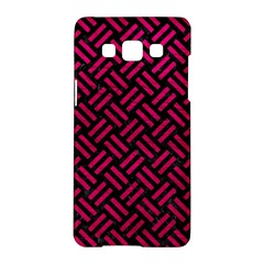 Woven2 Black Marble & Pink Leather (r) Samsung Galaxy A5 Hardshell Case  by trendistuff
