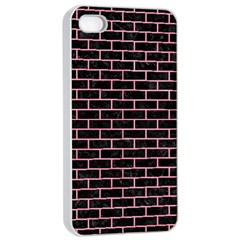 Brick1 Black Marble & Pink Watercolor (r) Apple Iphone 4/4s Seamless Case (white) by trendistuff