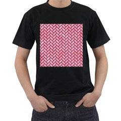 Brick2 Black Marble & Pink Watercolor Men s T Shirt (black) by trendistuff