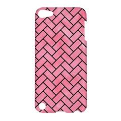 Brick2 Black Marble & Pink Watercolor Apple Ipod Touch 5 Hardshell Case by trendistuff