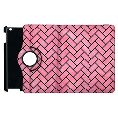 Brick2 Black Marble & Pink Watercolor Apple Ipad 3/4 Flip 360 Case by trendistuff