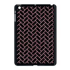 Brick2 Black Marble & Pink Watercolor (r) Apple Ipad Mini Case (black) by trendistuff