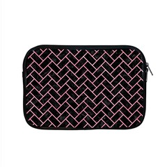 Brick2 Black Marble & Pink Watercolor (r) Apple Macbook Pro 15  Zipper Case by trendistuff