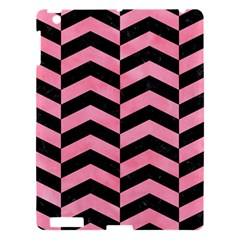 Chevron2 Black Marble & Pink Watercolor Apple Ipad 3/4 Hardshell Case by trendistuff