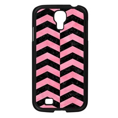 Chevron2 Black Marble & Pink Watercolor Samsung Galaxy S4 I9500/ I9505 Case (black) by trendistuff